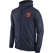 Nike Men's Syracuse Orange Heathered Blue Football Travel Full-Zip Hoodie