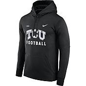 Nike Men's TCU Horned Frogs Football Sideline Black Therma-FIT Hoodie