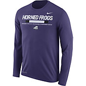 Nike Men's TCU Horned Frogs Purple Football Sideline Staff Legend Long Sleeve Shirt