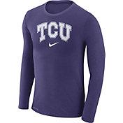 Nike Men's TCU Horned Frogs Purple Marled Dri-FIT Long Sleeve Shirt