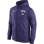 Nike Men's TCU Horned Frogs Purple Therma-FIT Full-Zip Football Hoodie