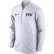 Nike Men's TCU Horned Frogs Lockdown Sideline White Half-Zip Jacket