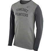 Nike Men's Tennessee Volunteers Grey Heavyweight Elevated Essentials Long Sleeve Shirt