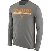 Nike Men's Tennessee Volunteers Gray Football Sideline Staff Legend Long Sleeve Shirt