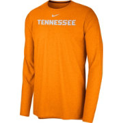 Nike Men's Tennessee Volunteers Tennessee Orange Football Dri-FIT Player Long Sleeve T-Shirt