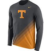 Nike Men's Tennessee Volunteers Anthracite/Tennessee Orange Football Sideline Dri-FIT Long Sleeve Shirt