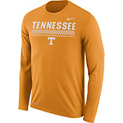 Nike Men's Tennessee Volunteers Tennessee Orange Football Sideline Staff Legend Long Sleeve Shirt