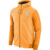 Nike Men's Tennessee Volunteers Heathered Tennessee Orange Football Travel Full-Zip Hoodie