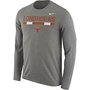 Nike Men's Texas Longhorns Grey Football Sideline Staff Legend Long Sleeve Shirt
