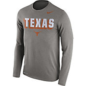 Nike Men's Texas Longhorns Grey Dri-FIT Franchise Long Sleeve T-Shirt