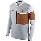 Nike Men's Texas Longhorns Grey/Burnt Orange Shield Hybrid Football Sideline Jacket