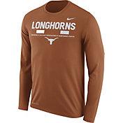 Nike Men's Texas Longhorns Burnt Orange Football Sideline Staff Legend Long Sleeve Shirt