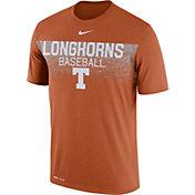 Nike Men's Texas Longhorns Burnt Orange Dri-Fit Team Issue Performance Baseball T-Shirt