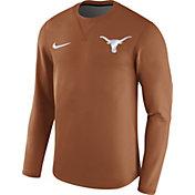 Nike Men's Texas Longhorns Burnt Orange Modern Football Sideline Crew Long Sleeve Shirt