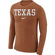 Nike Men's Texas Longhorns Burnt Orange Marled Dri-FIT Long Sleeve Shirt