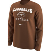 Nike Men's Texas Longhorns Burnt Orange 1997 Retro Football Long Sleeve Shirt