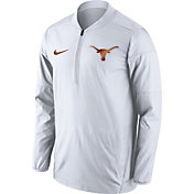 Nike Men's Texas Longhorns Lockdown Sideline White Half-Zip Jacket