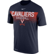 Nike Men's Virginia Cavaliers Blue Dri-Fit Team Issue Performance Baseball T-Shirt