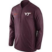 Nike Men's Virginia Tech Hokies Maroon Lockdown Sideline Half-Zip Jacket