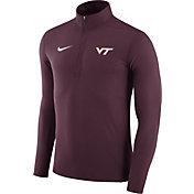 Nike Men's Virginia Tech Hokies Maroon Element Performance Quarter-Zip