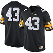 Nike Men's Iowa Hawkeyes Black #43 Game Football Jersey