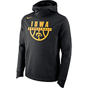 Nike Men's Iowa Hawkeyes Basketball Performance Elite Black Hoodie