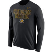 Nike Men's Wichita State Shockers Legend Black Long Sleeve Shirt