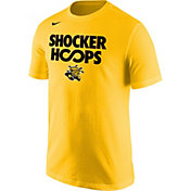 Nike Men's Wichita State Shockers 'Shocker Hoops' Basketball Yellow T-Shirt