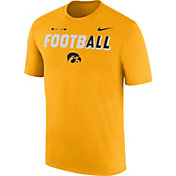 Nike Men's Iowa Hawkeyes Gold FootbALL Sideline Legend T-Shirt