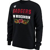 Nike Men's Wisconsin Badgers 2017 Capital One Orange Bowl Bound Long Sleeve Verbiage T-Shirt