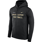 Nike Men's Washington Huskies Football Sideline Black Therma-FIT Hoodie