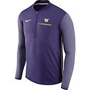 Nike Men's Washington Huskies Purple Coach Half-Zip Football Sideline Jacket