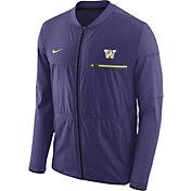Nike Men's Washington Huskies Purple Elite Hybrid Football Full-Zip Jacket