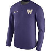 Nike Men's Washington Huskies Purple Modern Football Sideline Crew Long Sleeve Shirt