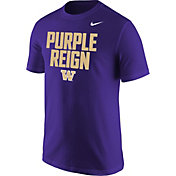 Nike Men's Washington Huskies 'Purple Reign' Football Mantra Purple T-Shirt