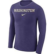 Nike Men's Washington Huskies Purple Marled Dri-FIT Long Sleeve Shirt