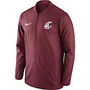 Nike Men's Washington State Cougars Crimson Lockdown Sideline Half-Zip Jacket