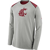 Nike Men's Washington State Cougars Grey Elite Shooter Long Sleeve Shirt