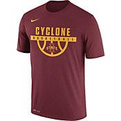 Nike Men's Iowa State Cyclones Cardinal Basketball Legend T-Shirt