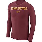 Nike Men's Iowa State Cyclones Cardinal Marled Dri-FIT Long Sleeve Shirt