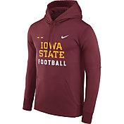 Nike Men's Iowa State Cyclones Cardinal Football Sideline Therma-FIT Hoodie