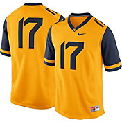 Nike Men's West Virginia Mountaineers #17 Gold Game Football Jersey