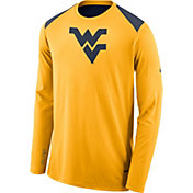 Nike Men's West Virginia Mountaineers Gold Elite Shooter Long Sleeve Shirt