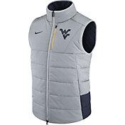 Nike Men's West Virginia Mountaineers Grey/Blue Football Sideline Vest