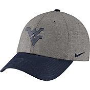 Nike Men's West Virginia Mountaineers Grey/Blue Heritage86 Heather Adjustable Hat