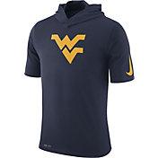 Nike Men's West Virginia Mountaineers Blue Basketball Hoodie Performance T-Shirt