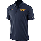 Nike Men's Blue West Virginia Mountaineers Basketball Polo