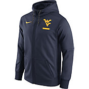 Nike Men's West Virginia Mountaineers Blue Therma-FIT Full-Zip Football Hoodie