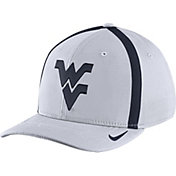 Nike Men's West Virginia Mountaineers White Aerobill Swoosh Flex Classic99 Football Sideline Hat