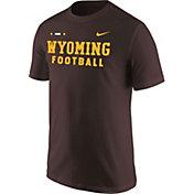 Nike Men's Wyoming Cowboys Brown Football Sideline Facility T-Shirt